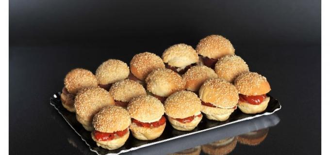 Le plateau de 15 mini-burgers fraicheur